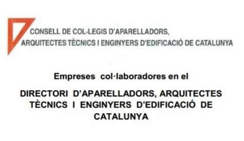 Empreses col·laboradores en el directori d'Aparelladors